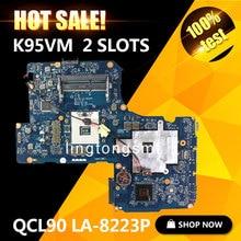 Oryginalny K95VM dla ASUS Laptop płyty głównej QCL90 LA-8223P REV1.0 Płyty Głównej 2 Sloty GeForce 630 M 1G Ram RAM 100% testowane