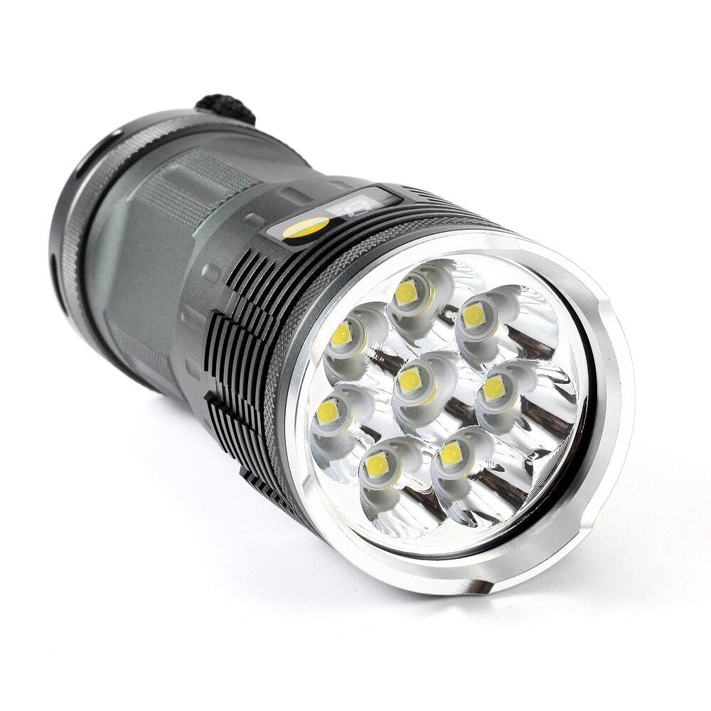 2019 nouveau puissant 8 x XML L3 20000 lumens étanche lampe de poche - Éclairage portable - Photo 4