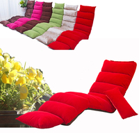 FloorFolding Chaise Lounge Chair Modern Fashion 6 Color Living Room Comfort Daybed Lazy Reclining Upholstered Sleeper SofaBed