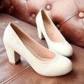 Mujeres 7 cm tacones altos PU zapatos mujer bombas zapatos tamaño 30 31 32 33 41 42 43 sy-1695