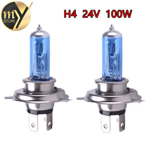 2pcs 24V H4 100W Super Bright Fog Lights Halogen Bulb High Power Headlight Lamp Car Light Source parking Head White 100/90W