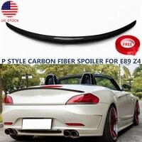 Bat Styling P Look 3K Carbon Fiber Spoiler For BMW E85 E89 Z4 20i 28i 30i 35i Performance Rear Trunk Splitter 2003 2016 US Stock