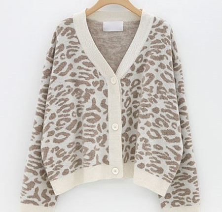 Women Autumn Winter Leopard Cardigan Sweater coat Female Long Sleeve plus size Outer Knitted tops pull Femme jersey sueter 13