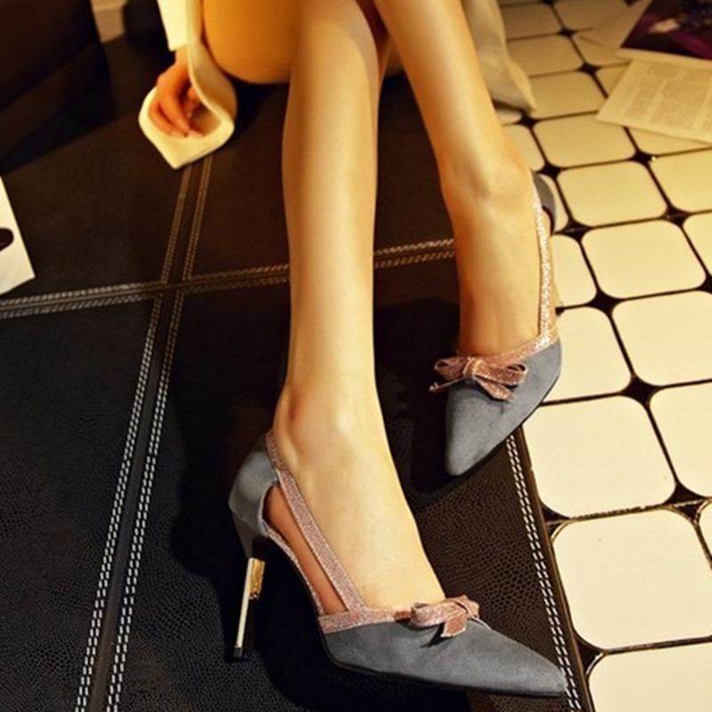 9d8aa32264 2016 venda quente nó retro Plus Size 11 12 couro Rebanho patch de cristal  dedo apontado salto fino sapatos de salto alto mulheres bombas