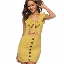 Hot Sale 2019 Women Dress Summer New Sexy Woman Sheath Ruffles V-neck Mini Classics Party Dresses Luxury Shine Promotion