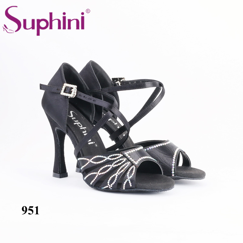 New Arrival 2018 Black Latin Dance Shoe Personalized Design Woman Social Dance  Shoe Suphini Customized Salsa Shoes Free Shipping - imall.com 94a9494d4bdf