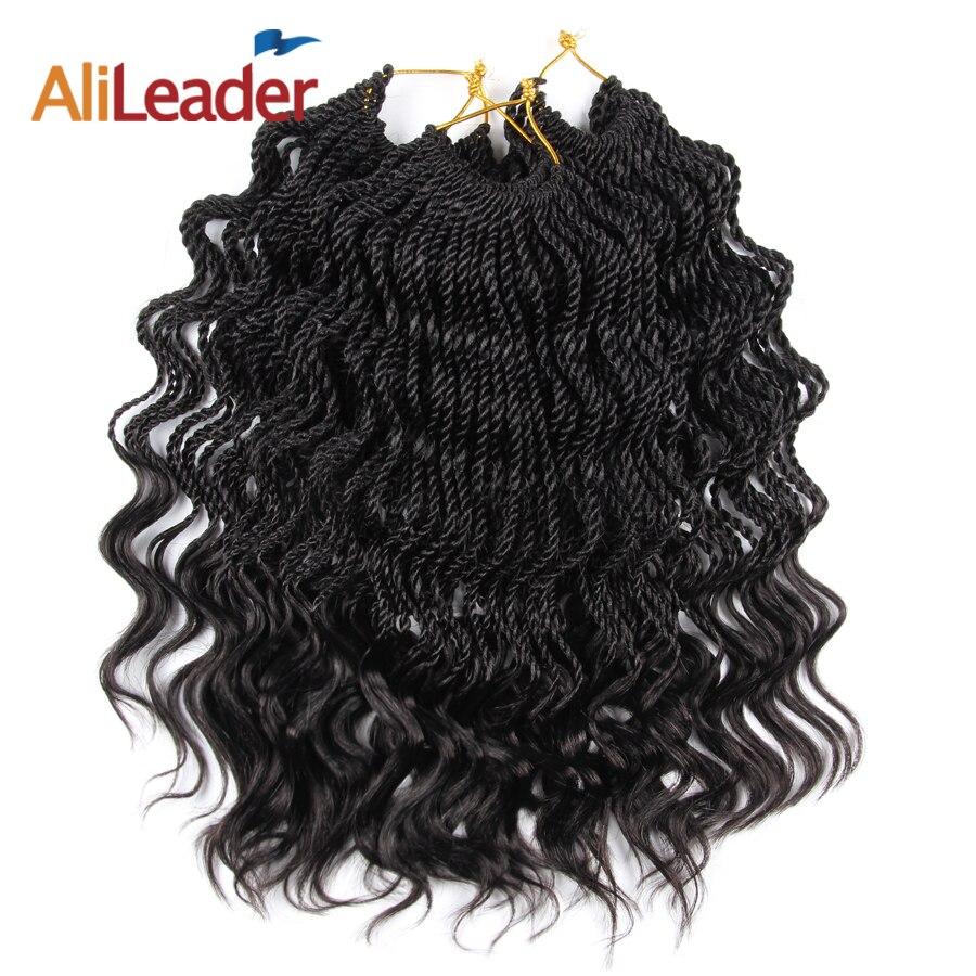 Alileader Low Temperature Firber Curly Senegale Twist Crochet Braiding Hair 14 35 Strands Crochet Braids Synthetic Hair Weave