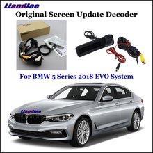 Liandlee Car Original Screen Update System Rear Reverse Camera For BMW 5 G30/G31/G38 EVO System Digital Decoder Display Plus 5 g38 5 g38 5