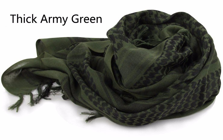 Tactical Scarves Military Windproof Winter Scarf Men Muslim Hijab Tactical Shawl Keffiyeh Scarves 100% Cotton Scarf Unisex 4