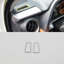 Car Accessories Interior Decoration ABS Front Upper Air Vent Outlet Cover Trims 2pcs For Toyota RAV4 2016 Car Styling цены