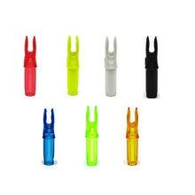 Flecha nocks botões girados de plástico, colorido brilhante 50 pacote/lote adequado para 6.20mm/0.246