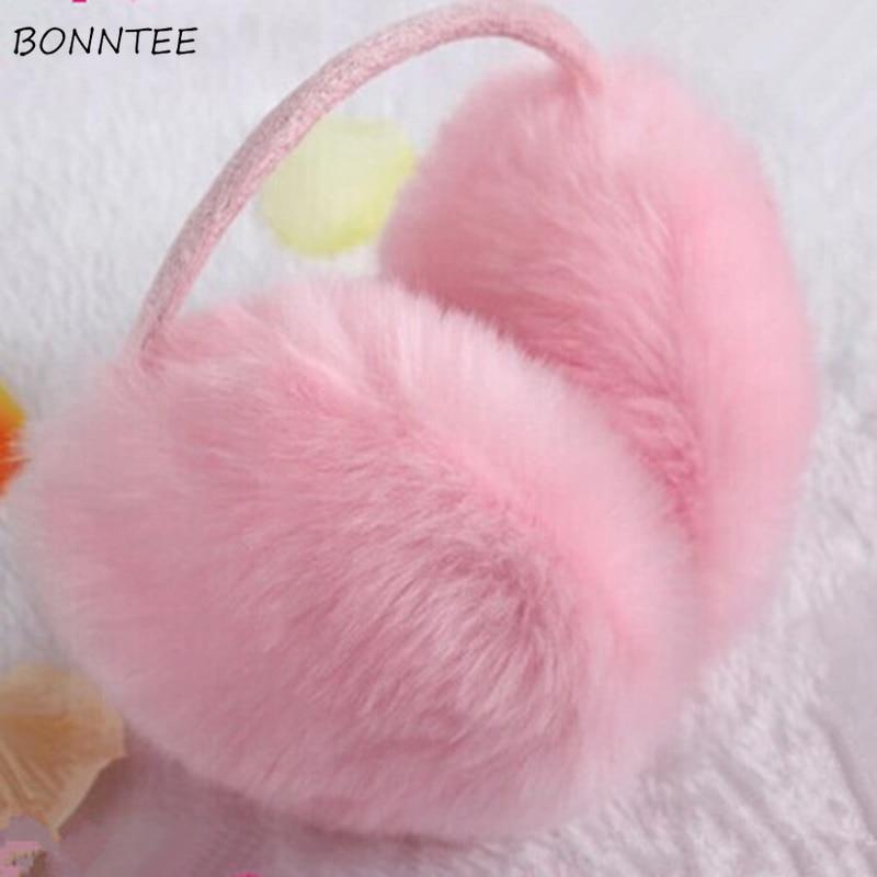 Earmuffs Women High Quality Faux Rabbit Fur Winter Students Cute Ladies Ear Warmers Leisure Cotton Korean Style Ladies Earmuff