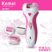 Kemei 4 in 1 Lady Shaver Electric Epilator Female Women's Personal Care for Full Body Razor Hair Removal Machine KM-2531