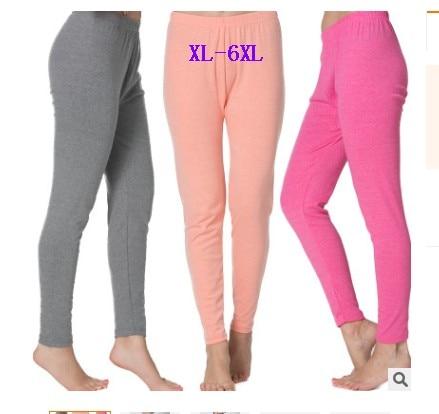 New 2019 Women autumn winter women's intimates colored cotton thermal underwear bottoms plus size xl- 5xl 6xl