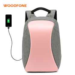 WOODFONE Women Oxford School Backpack Female Travel Waterproof Mochila Anti theft USB Charging Men For 15.6 Inch Laptop Bag