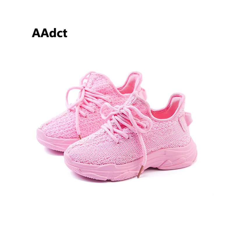 AAdct 2018 knitting summer girls shoes sneakers Brand new fashion children shoes running sports Mesh kids shoes for boys 2016 new shoes for children breathable children boy shoes casual running kids sneakers mesh boys sport shoes kids sneakers