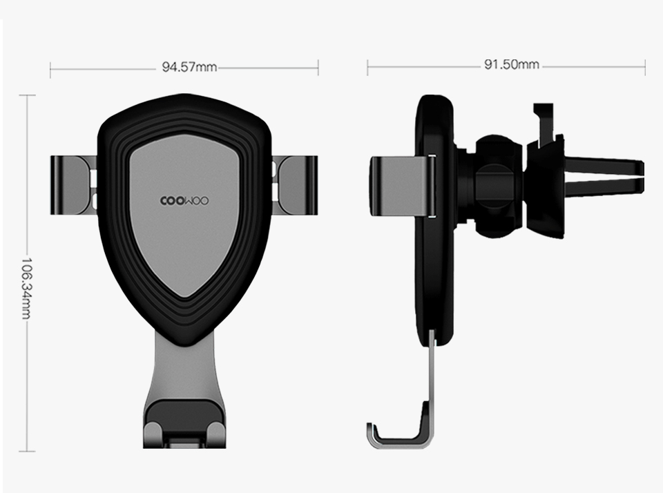 Xiaomi Mijia COOWOO Smart Car Bracket with Gravity Sensor One-handed Operation Multi-device Compatible Air Outlet Clip Holder (13)