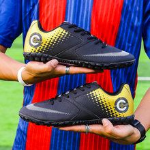 Мужские футбольные туфли закрытые для взрослых tf дышащая Спортивная