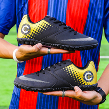 Men Football Shoes Indoor Cleats Adults TF Soccer Shoes Breathable Gym Training Sports Shoes Sneakers Men Turf Futsal Size 35-44 цена