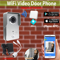 [Upgrade Version] Wireless Wifi Outdoor Waterproof Camera + Indoor Bell Video DoorPhone Intercom Doorbell for cell phone