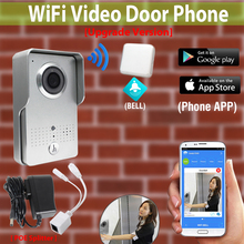 [Upgrade Version] Wireless Wifi Video Door Phone Intercom Doorbell Outdoor Waterproof Camera + Indoor Bell for cell phone