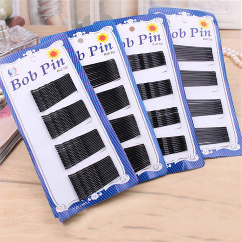 1 Pack120pcs Popularity Simple Hairpins Black Alloy Hair Clip Bobby Pin Hair Accessories Headwear Ball Lace Bob Pins