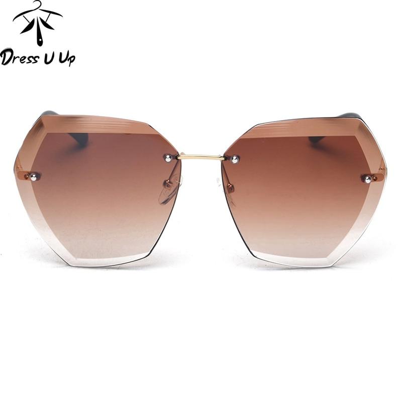 Rimless Glasses Fashion : ?DRESSUUP Exquisite Trimming Rimless Sunglasses ? ???????? ...