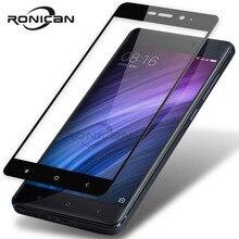 RONICAN Redmi 4 pro glas gehärtetem 2,5 D volle abdeckung gehärtetem glas Xiaomi Redmi 4 4A 4X screen protector Redmi 4 prime glas Fall