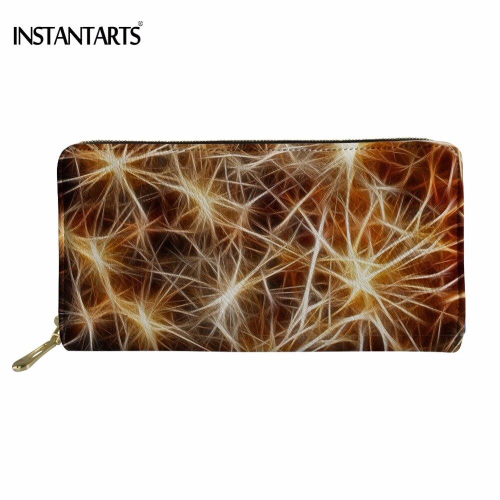 INSTANTARTS Zipper Wallet Cash-Money Woman Storage-Bag Credit-Card-Holder Long Fashion