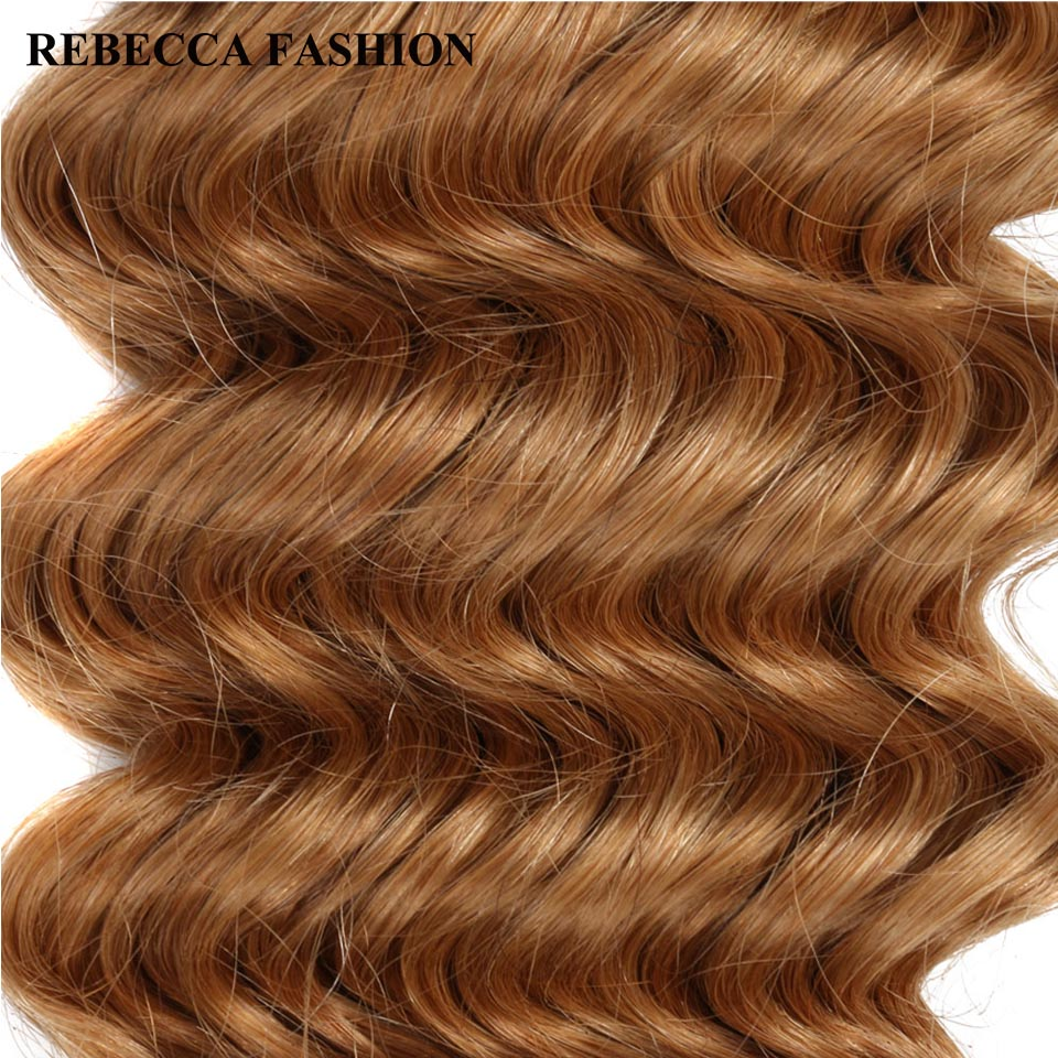 Rebecca Remy Hair Bundles Brazilian Deep Wave 100g Human Hair Weave