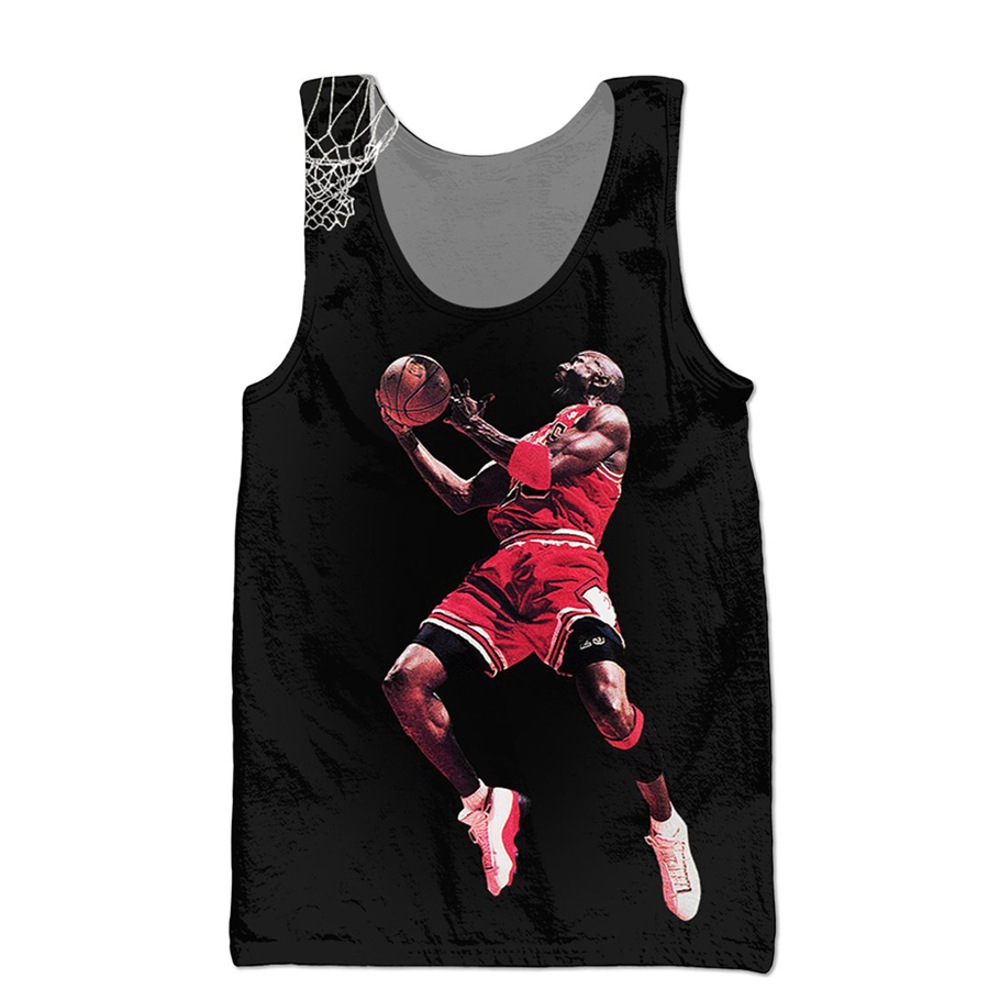hot sale summer Mens Jordan   Tank     Tops   Fashion Brand clothing Jordan dunk 3D Print Hip Hop casual men Hipster Streetwear vest