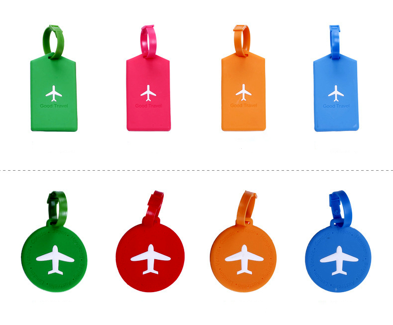 High Quality 1Pc Wedding Favor Take My Love To Travel Silicon Luggage Tag Aircraft Shape Portable Secure Travel Suitcase Label