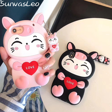 New 3D Lucky Cat Cute Cartoon Soft Silicone Case Mobile Phone Back Cover Skin Shell For iPhone 6 6s Plus 7 8 X XS XR Max