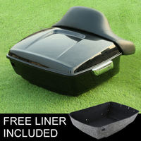 King Tour Pak Pack Trunk Backrest Pad For Harley Touring Street Road Glide 14 18 Motorcycle