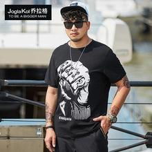 2019 New fashion fat man plus-size T-shirt loose casual trend Summer T-Shirt