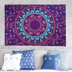 Sommer strand håndklæde stor mediter trykt flora væg hængende - Hjem tekstil - Foto 4