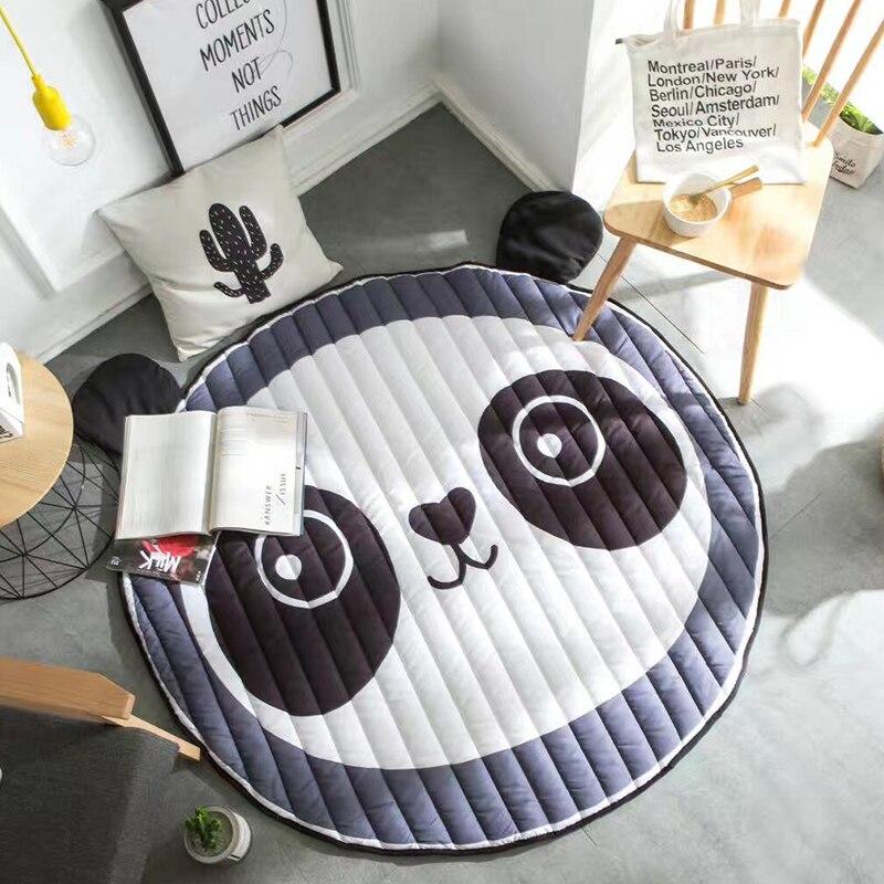 INS popular Panda Floor Mat 110*150cm Playing Blanket Carpet Rug in clouds shaped decorative bedside carpet for childrenroom