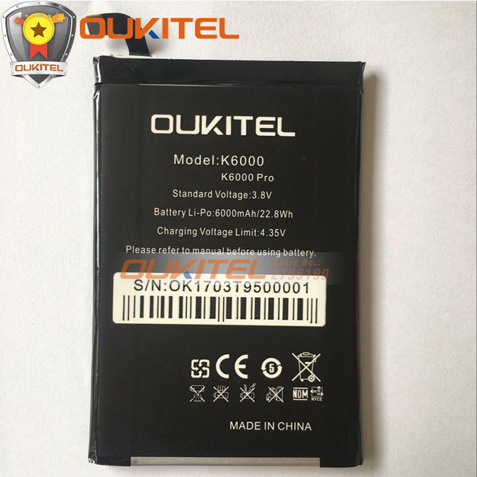 Original <font><b>Oukitel</b></font> <font><b>K6000</b></font> <font><b>Pro</b></font> <font><b>Battery</b></font> Replacement Large Capacity 6000mAh For <font><b>Oukitel</b></font> <font><b>K6000</b></font> <font><b>Pro</b></font> 4G Cellular smartphone