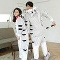 Женщины Kigurumi животных Пижамы наборы Фланель С Капюшоном Пижамы Сыр Cat для Детей Взрослых Мужчин Onesies Пижамы Зимой figmen