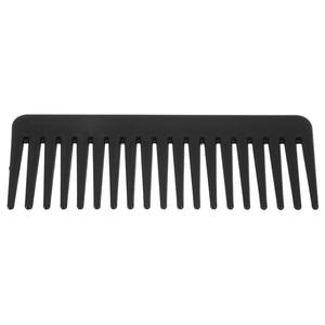 Image 4 - 19 שיניים רחב שן מסרק שחור ABS פלסטיק עמיד בחום גדול רחב שן מסרק שיער סטיילינג כלי