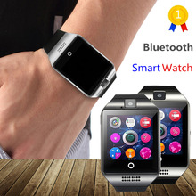 OLLLY Newest Q18 Smart Watch Bluetooth Smartwatch Phone with Camera TF SIM Card Slot for font