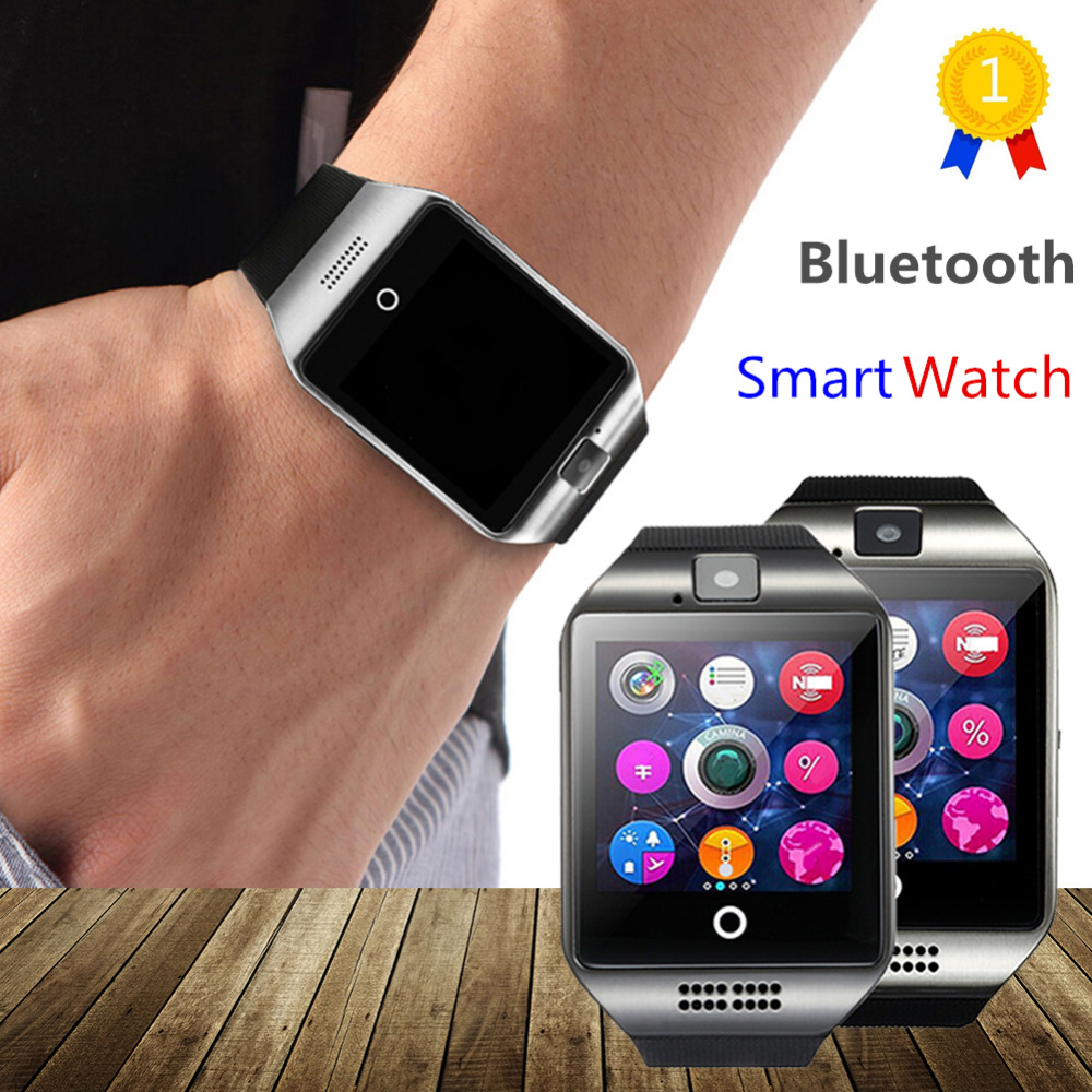 OLLLY Newest Q18 Smart font b Watch b font Bluetooth Smartwatch Phone with Camera TF SIM
