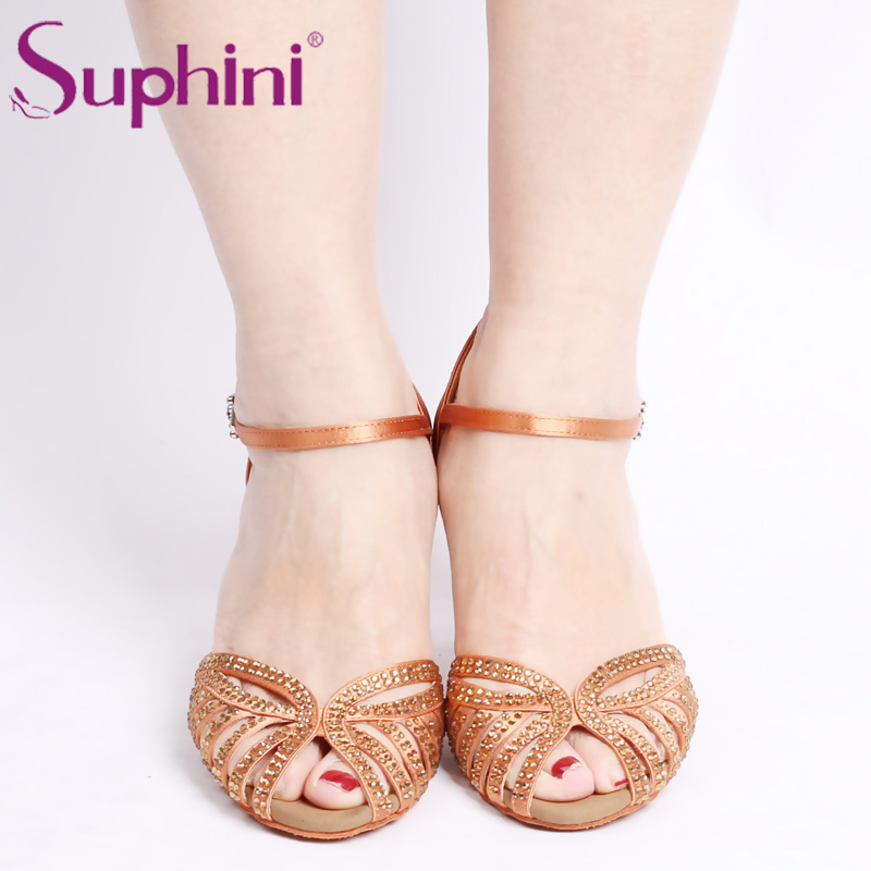 Suphini New Released Latin Shoes, Rhinestone Dance Shoe, Lady Salsa Dance Shoes dc shoes бордшорты released sp