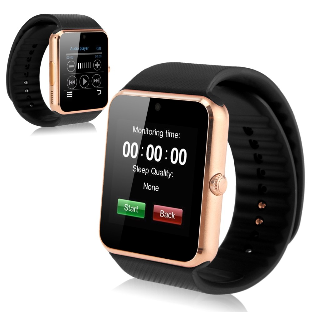 2016  Bluetooth sport Smart Watch GT 08 for iPhone IOS Android Phone Wear Clock Connect Watch Wearable Device Smart watch