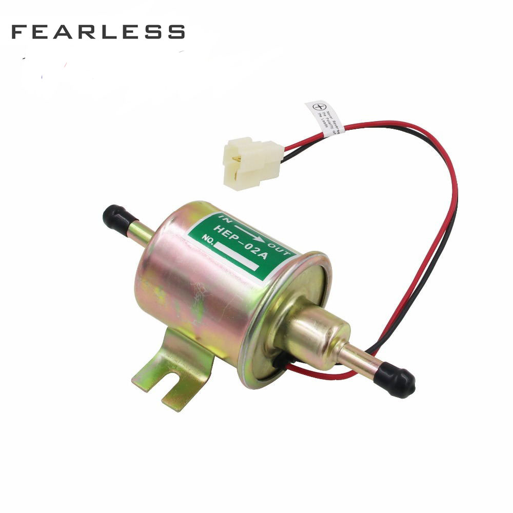 HEP 02A Electric Fuel Pump 12V For Car Carburetor Motorcycle ATV Universal Diesel Petrol Gasoline Low Pressure Universal in Fuel Supply Treatment from Automobiles Motorcycles