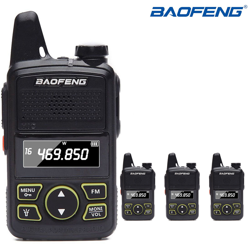 4Pcs Baofeng BF T1 MINI Kids Walkie Talkie BF T1 cb Two Way Radio UHF long