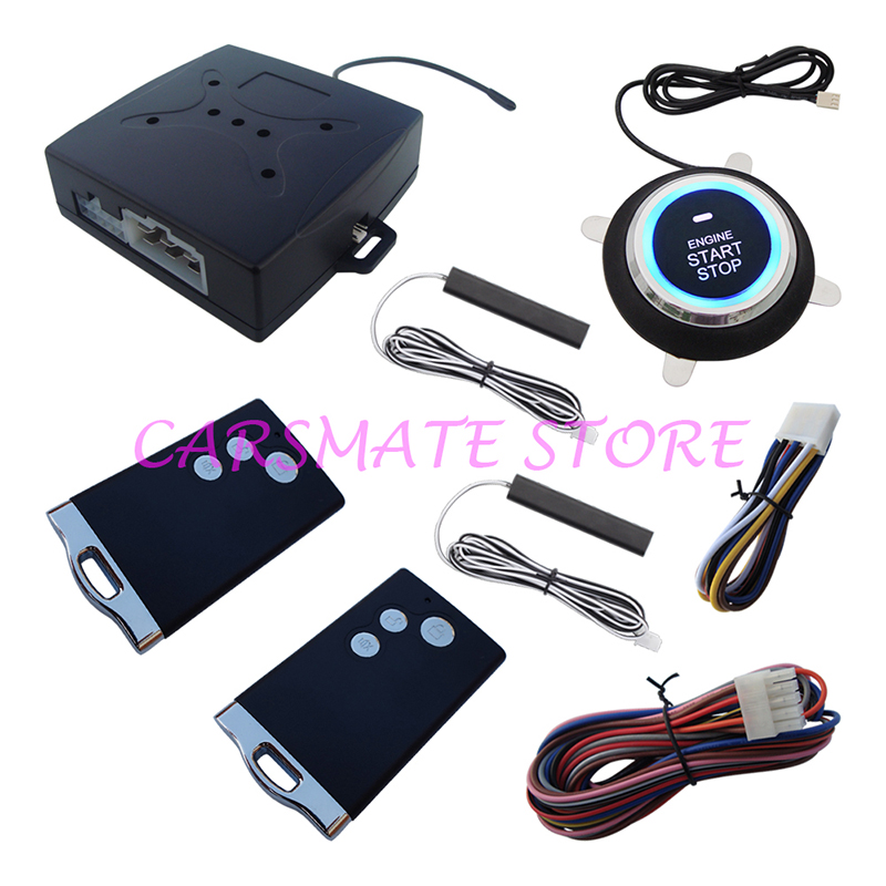 Hopping Code Car PKE Alarm System Passive Keyless Entry Remote Start Push Start Remote Trunk Release