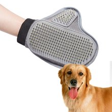 Pet Grooming Glove Gentle Deshedding Brush Glove Massage Tool for Cats, Dogs and Horses Pet massage gloves right hand pet massage gloves left hand right hand pet bath brush massage grooming for pet washing