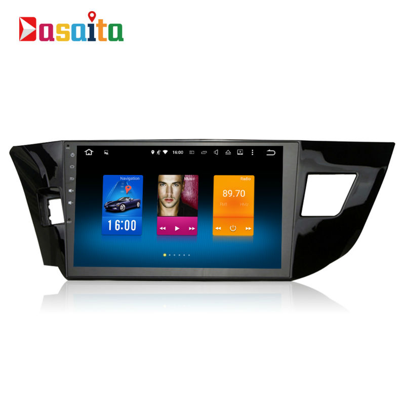 Voiture 2 din android GPS Navi pour Toyota Corolla 2015 autoradio navigation tête unité multimédia 4 Gb + 32 Gb Android 8.0 PX5 Octa-core