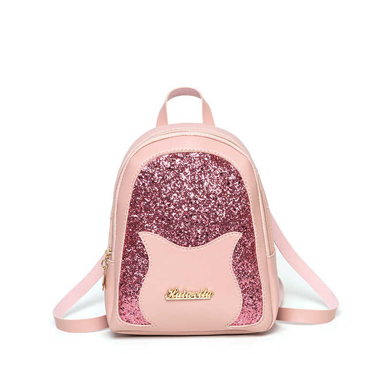 07102b22f0b Girl's Small Backpack 2019 Brand Fashion Shining Sequin Shoulder Bag ...